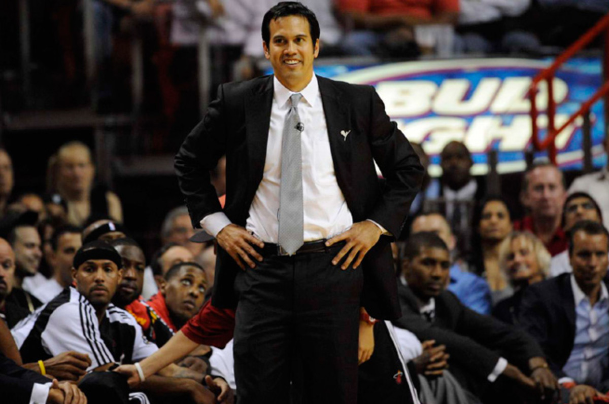 Erik Spoelstra has led the Heat to three straight Finals and two consecutive titles.