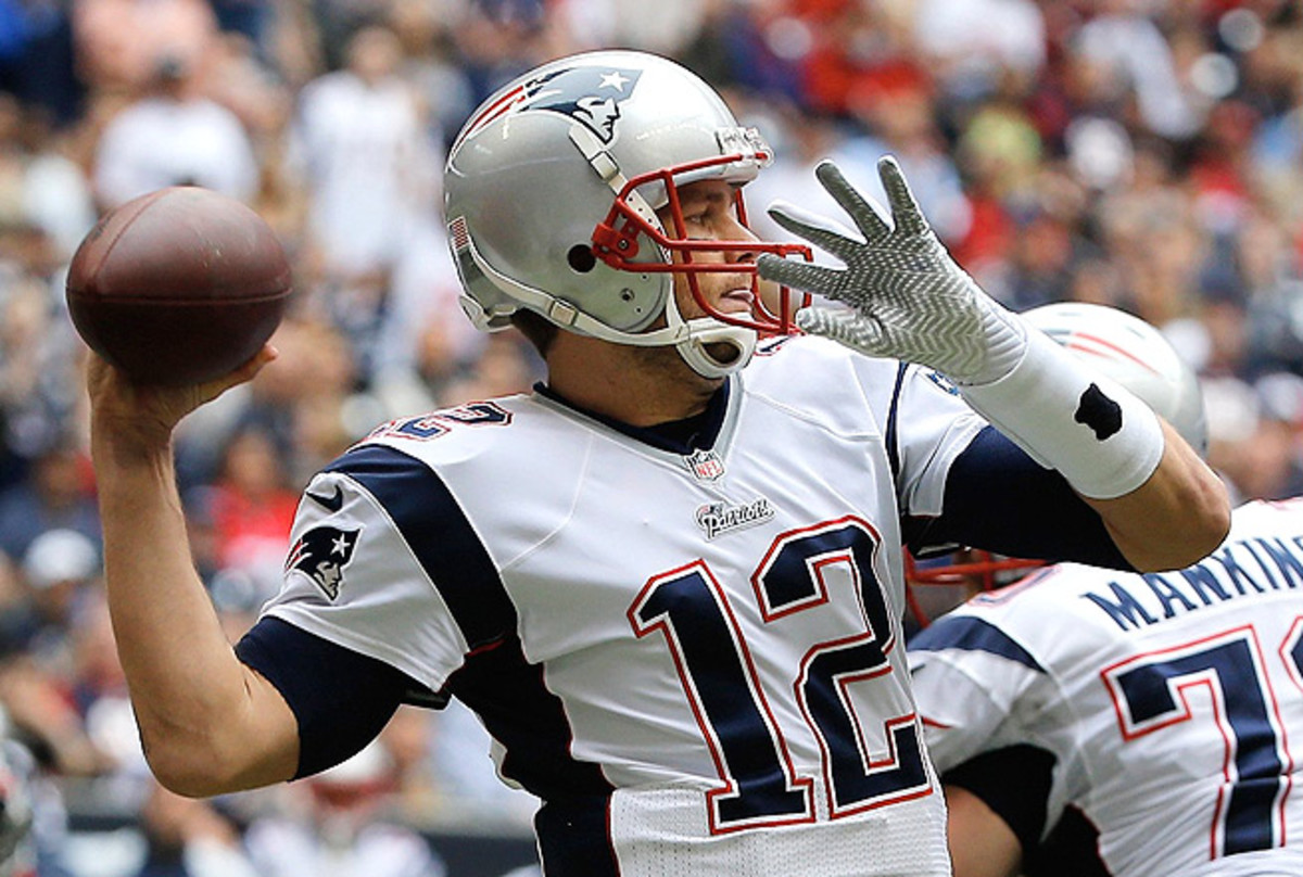 Tom Brady has thrown for 1,443 yards and tossed 10 touchdowns in his last four games.