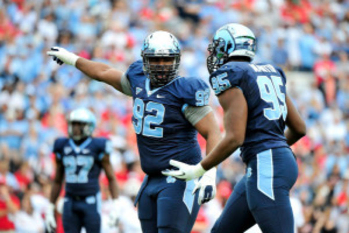 Sylvester Williams was one of two UNC players taken in the first round of the 2013 NFL Draft (Grant Halverson/Getty Images Sport)