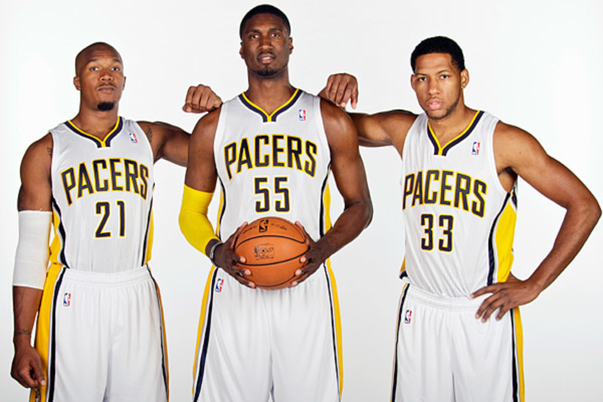 The return of Danny Granger (right) to complement David West (left), Roy Hibbert (center) and Paul George should boost Indiana. (Ron Hoskins/NBAE via Getty Images)