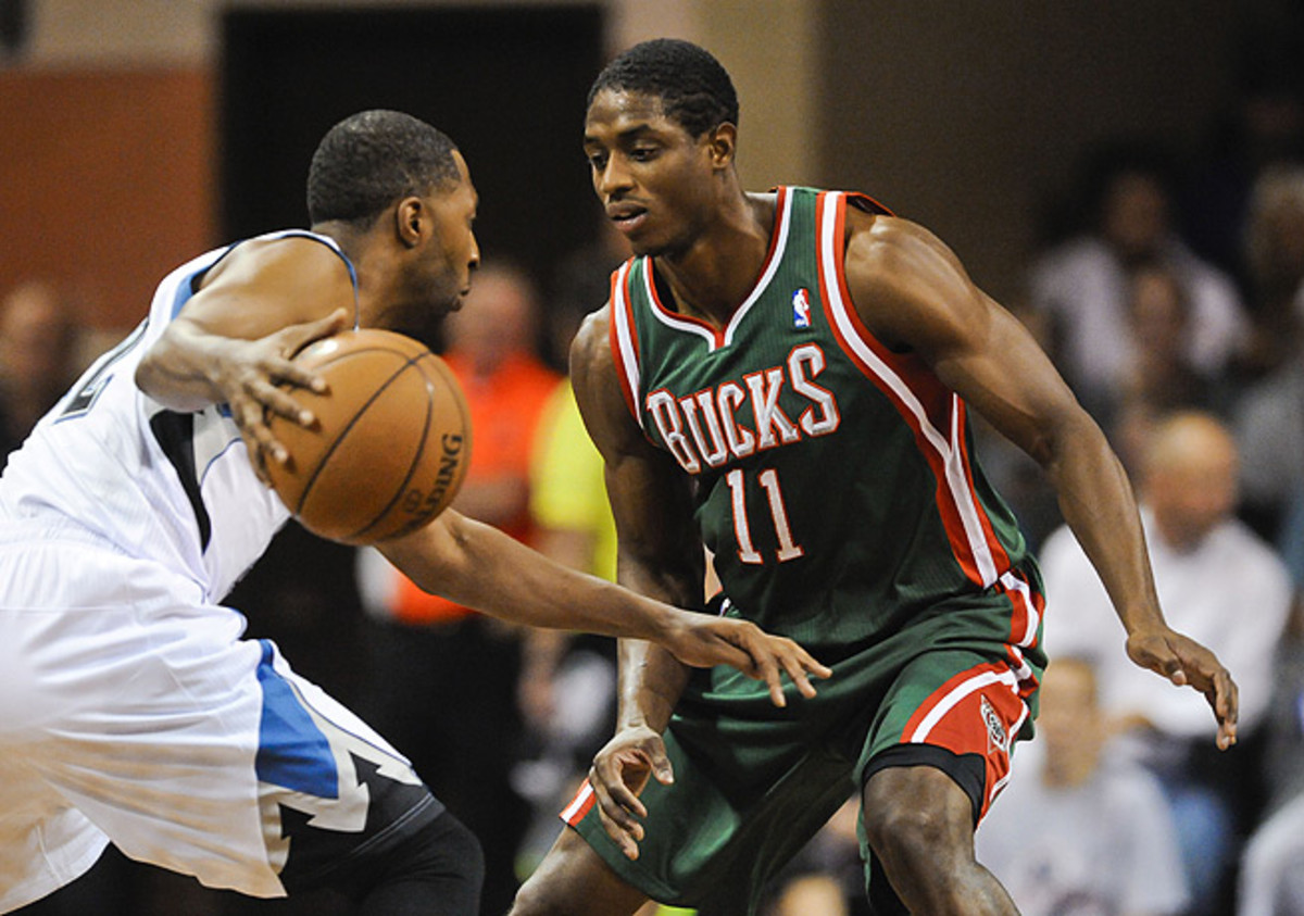 Brandon Knight (right) joined the Bucks in the offseason after being traded from the Pistons.