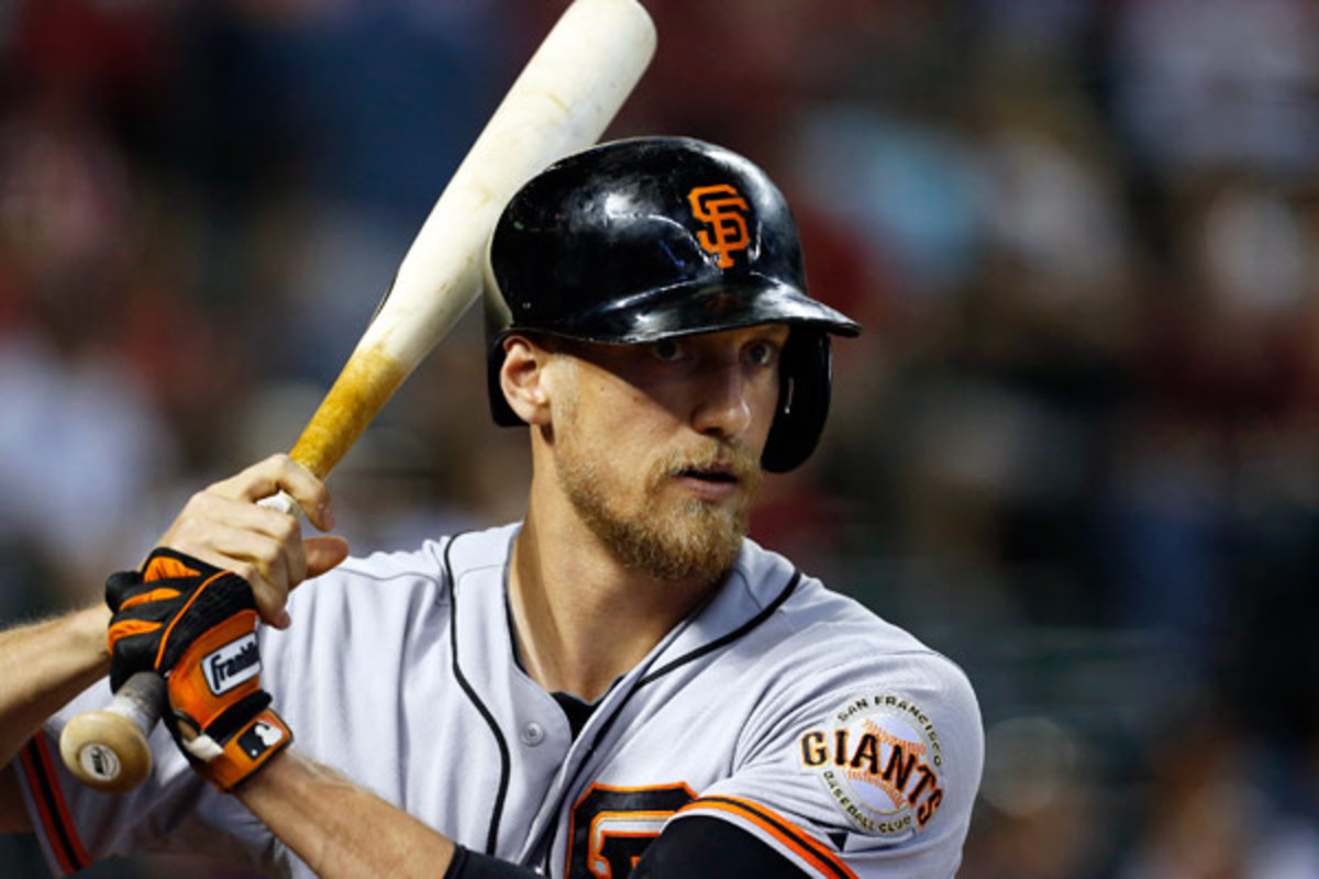 The struggling Giants could be looking to offload Hunter Pence and his $13.8 million contract. (AP)