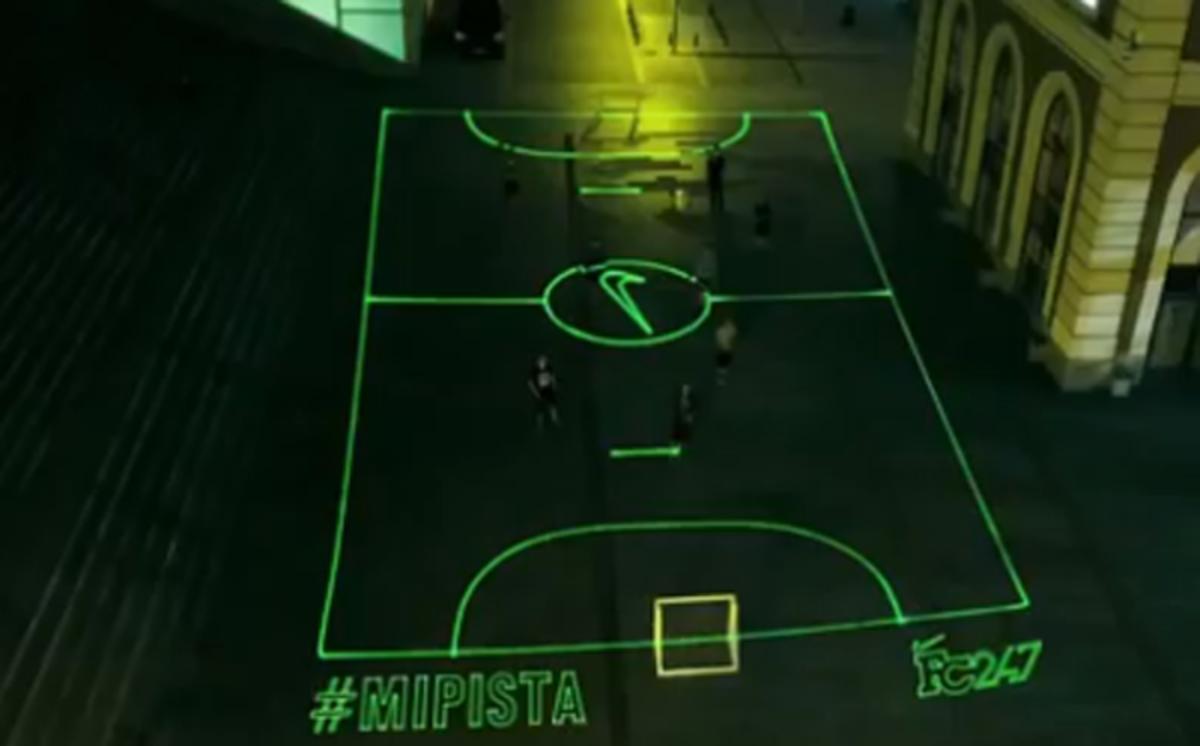 nike laser soccer field
