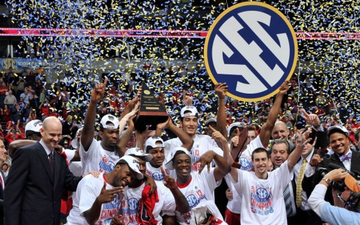 The SEC is discussing having its men's basketball tournament at one primary site. (Frederick Breedon/Getty Images)
