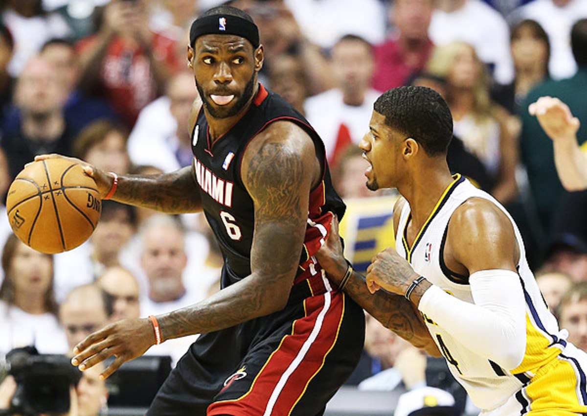 LeBron James continues to grow more and more dangerous from the low post for Miami Heat