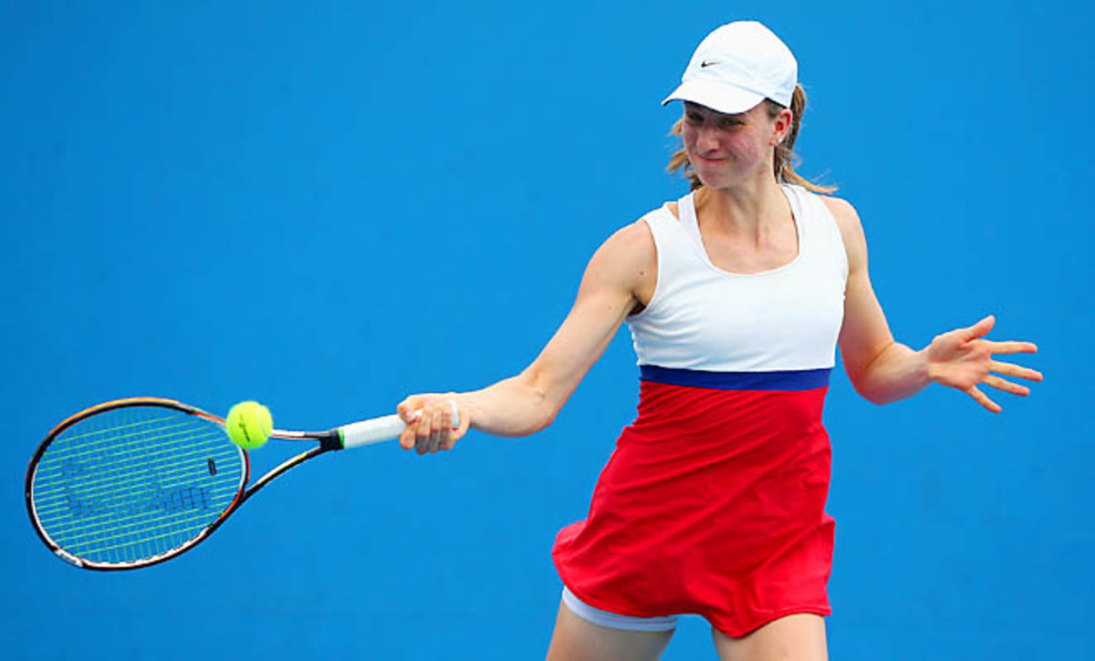 Mona Barthel was upset in the first round of the Australian Open.