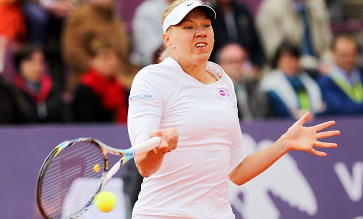 Estonia's Kaia Kanepi made the French Open quarterfinals last year.