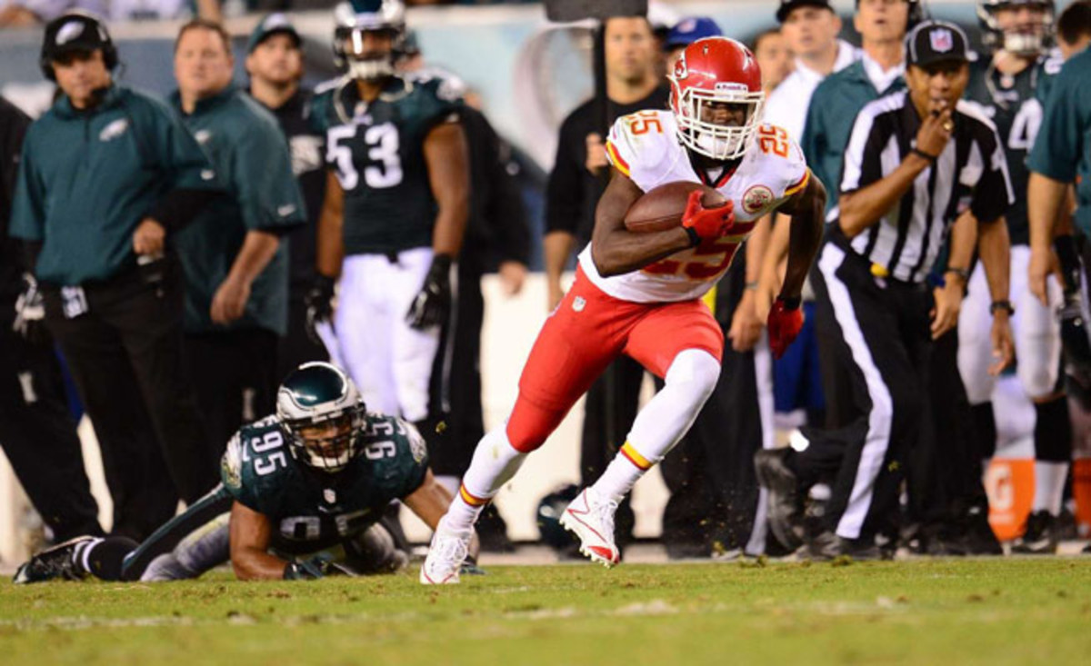 Jamaal Charles is thriving in Andy Reid's new system, both as a running back and a receiver.