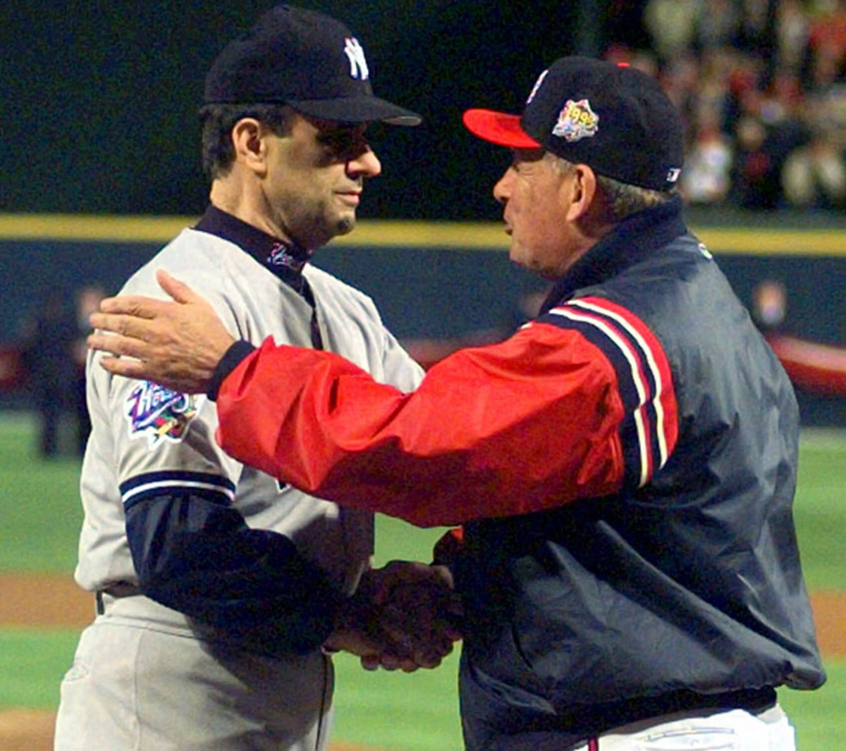 Joe Torre's Yankees beat Bobby Cox's Braves in both the 1996 and 1999 World Series.