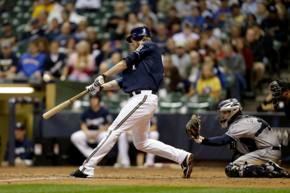 Brewers first baseman Corey Hart may miss the entire season due to knee surgery. Earlier, the team had hoped Hart would be able to return by the All-Star break. (Mike McGinnis/Getty Images)