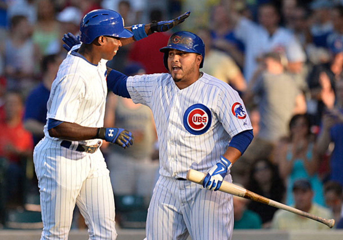Alfonso Soriano and Dioner Navarro, Cubs