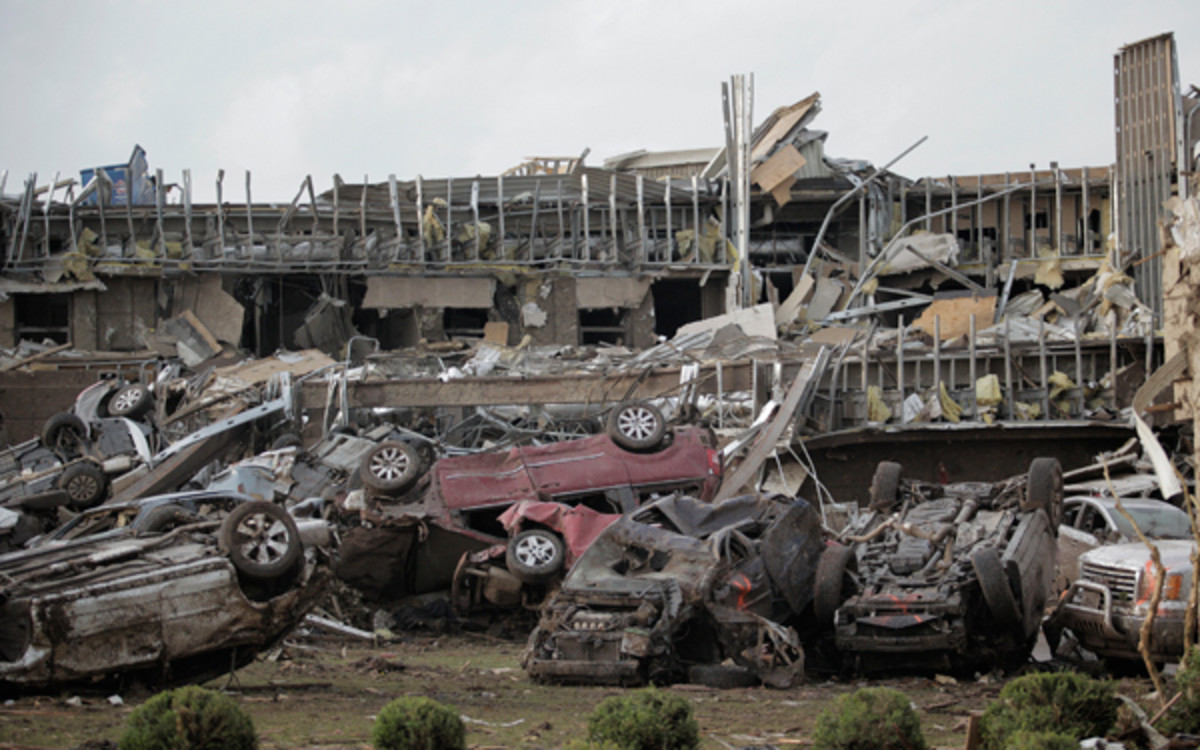 The NBA and Players Association's $1 million donation will go toward relief efforts in Moore, Okla. and surrounding area. (Brett Deering/Getty Images)