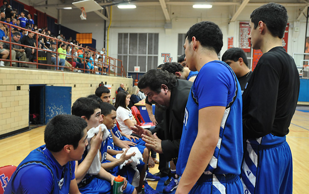 Lanier coach Rudy Bernal is in his fourth decade coaching the underprivileged but ever-determined Voks.