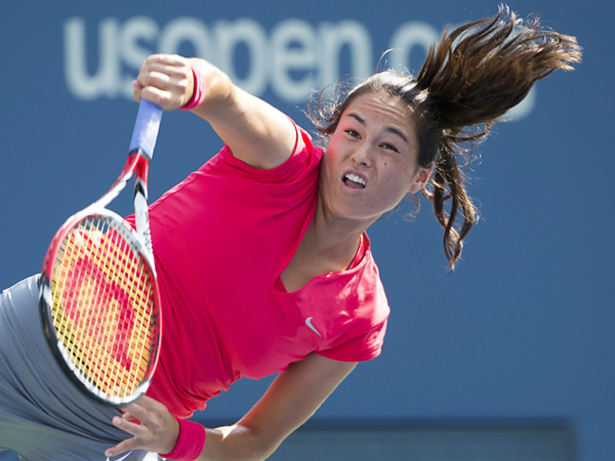Jamie Hampton helped Sloane Stephens reach the fourth round by committing 34 unforced errors. (Don Emmert/AFP/Getty Images)