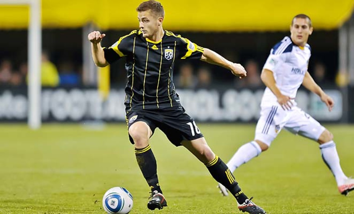 Robbie Rogers played for the Columbus Crew from 2007 to 2011, winning the 2008 MLS Cup.