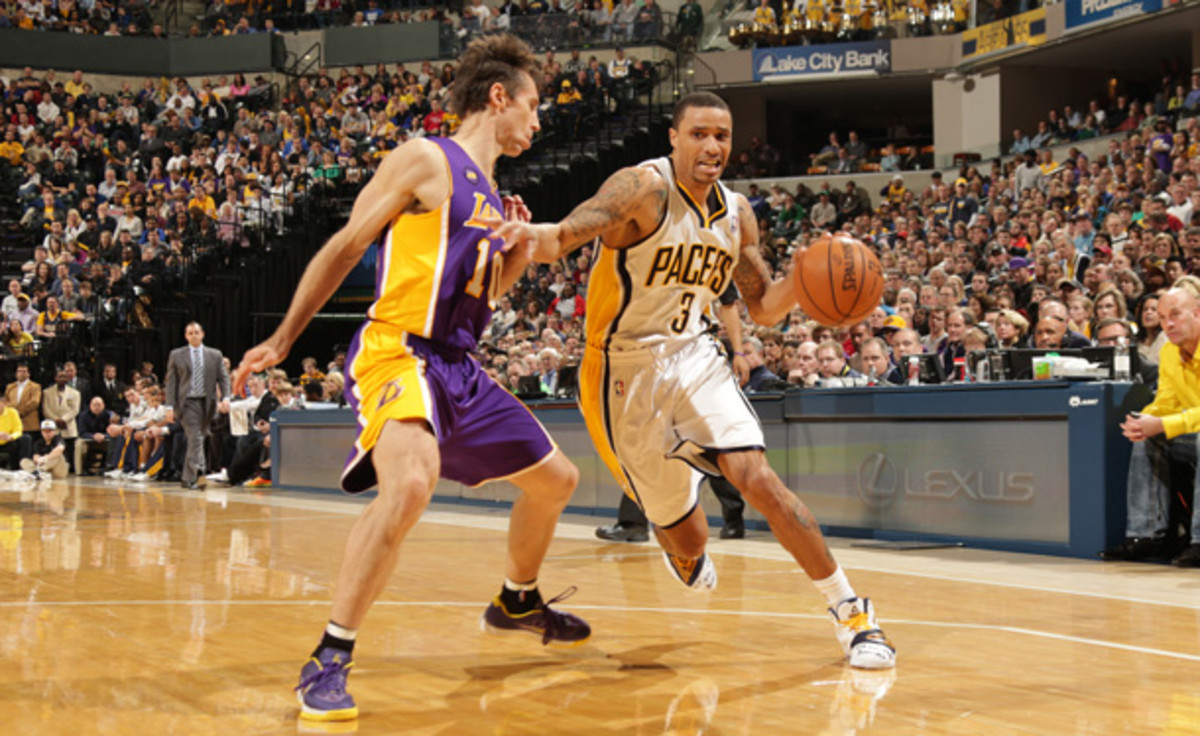 George Hill wasn't pleased with the fan support during a recent loss. (Ron Hoskins/Getty Images)