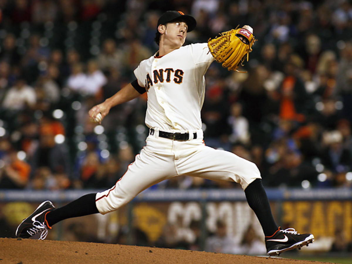 Tim Lincecum has yet to regain his Cy Young form of old, but inked a new extension with the Giants. (George Nikitin/AP)
