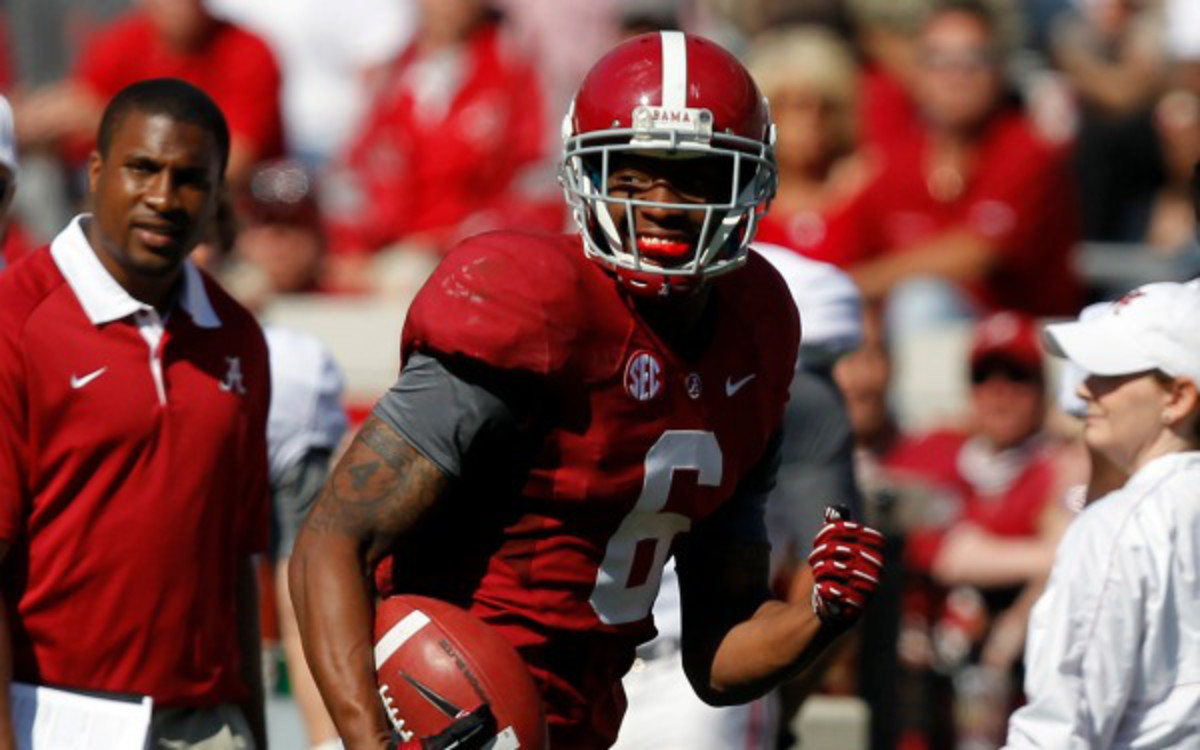 Alabama star safety HaHa Clinton-Dix was reinstated by the NCAA after serving a 2-game suspension. (AP Photo/Butch Dill)