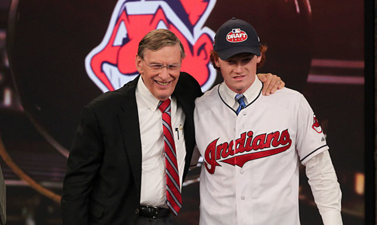 Georgia high school outfielder Clint Frazier was drafted by Cleveland with the fifth overall pick.