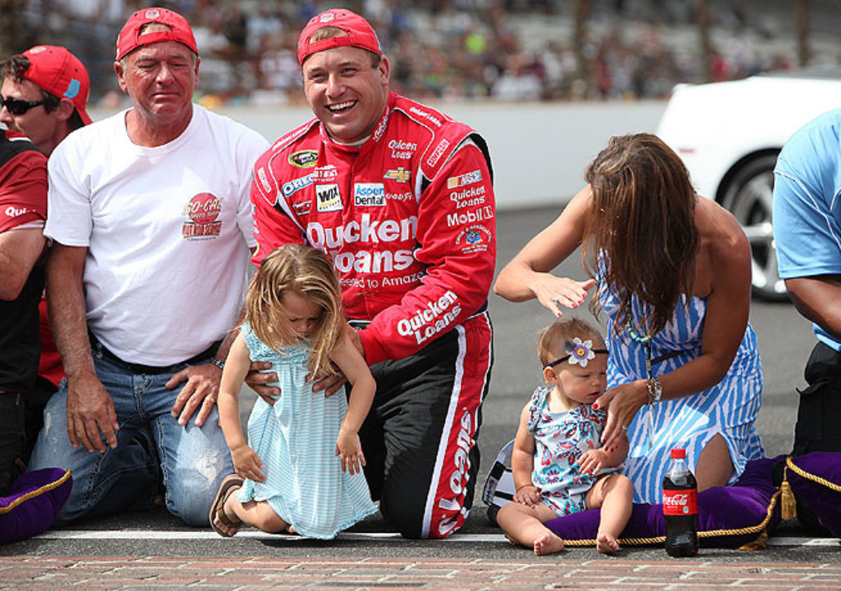 Ryan Newman's victory at the Brickyard 400 in his native Indiana turned into a family affair.
