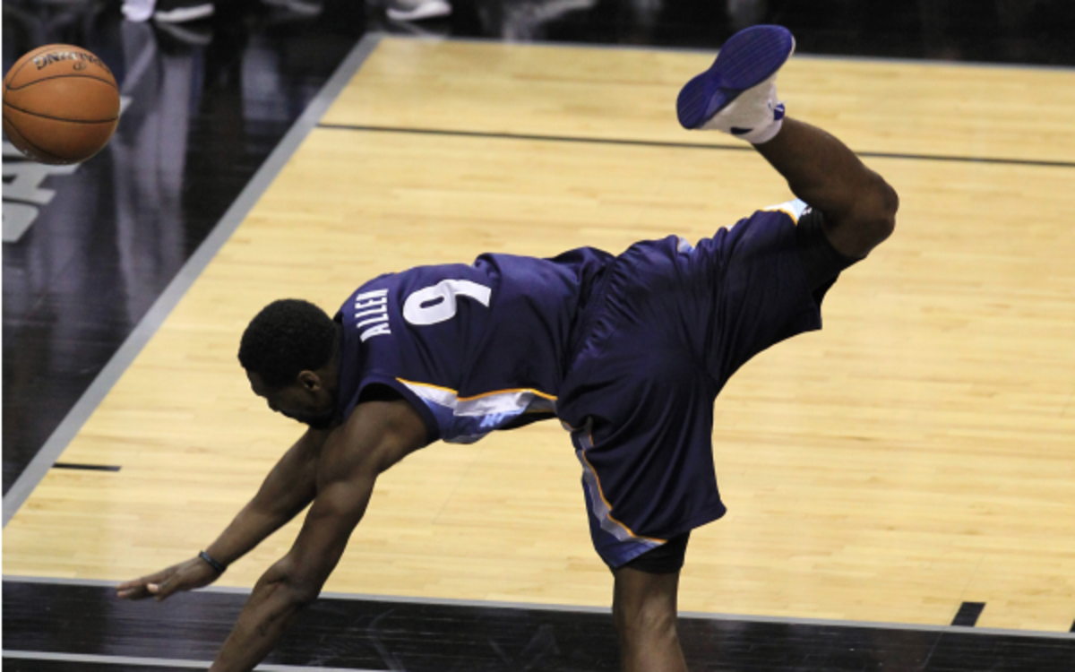 Grizzlies guard Tony Allen is $5,000 poorer after being fined for flopping. (Ronald Martinez/Getty Images)