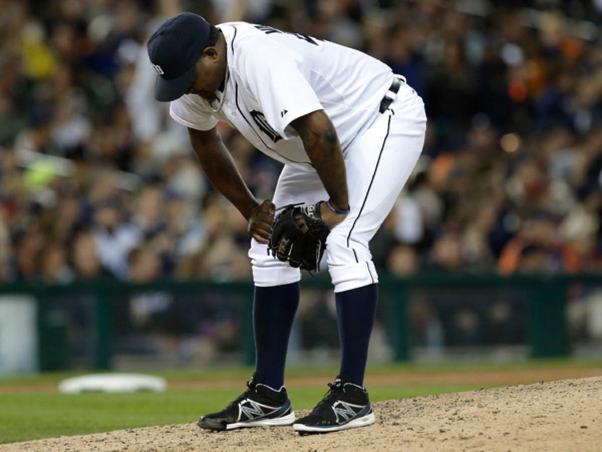 Jose Valverde has hit a rough patch as of recent for Detroit. (Paul Sancya/AP)