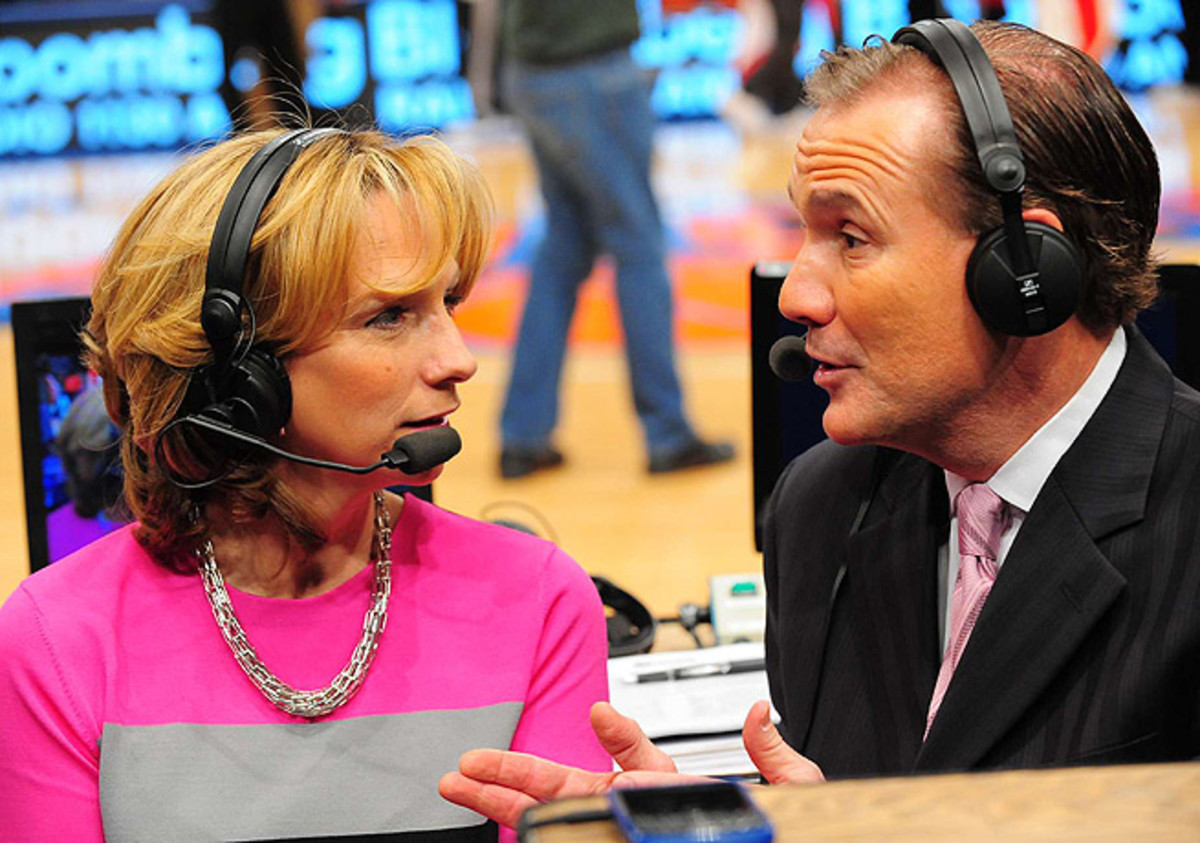 ESPN's Beth Mowins (left) possesses an impressive range of versatility in the broadcast booth.