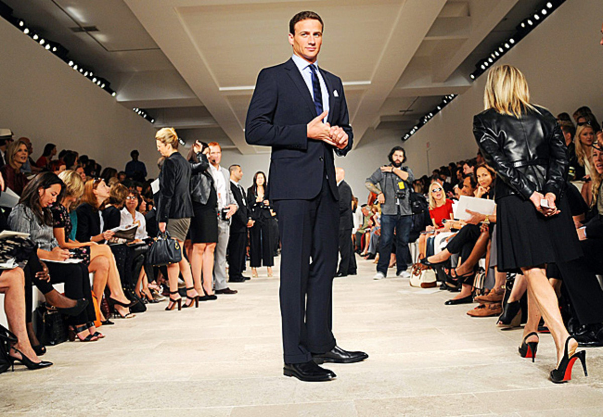 Ryan Lochte attended the Ralph Lauren show at Spring Fashion Week in September.