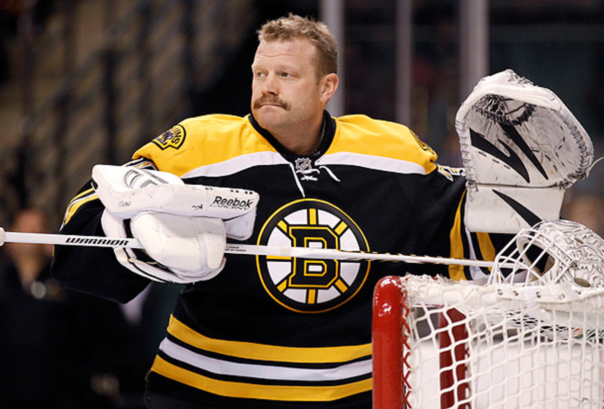 Will any team risk attracting outside distraction with bringing Tim Thomas into the fold? (Winslow Townson/AP)