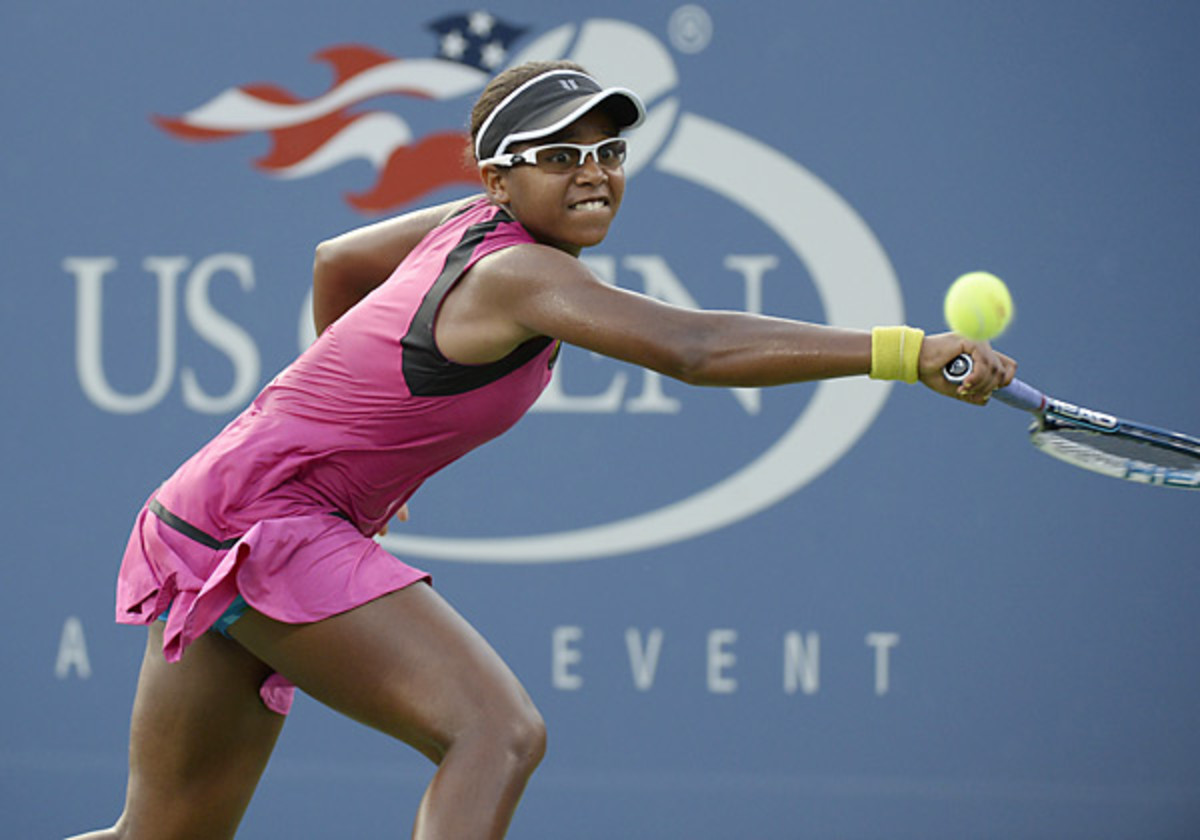 Ranked No.296th in the world, Victoria Duval gained her first Slam win a year after losing to TK at the U.S. Open. (Timothy A. Clary/AFP/Getty Images)