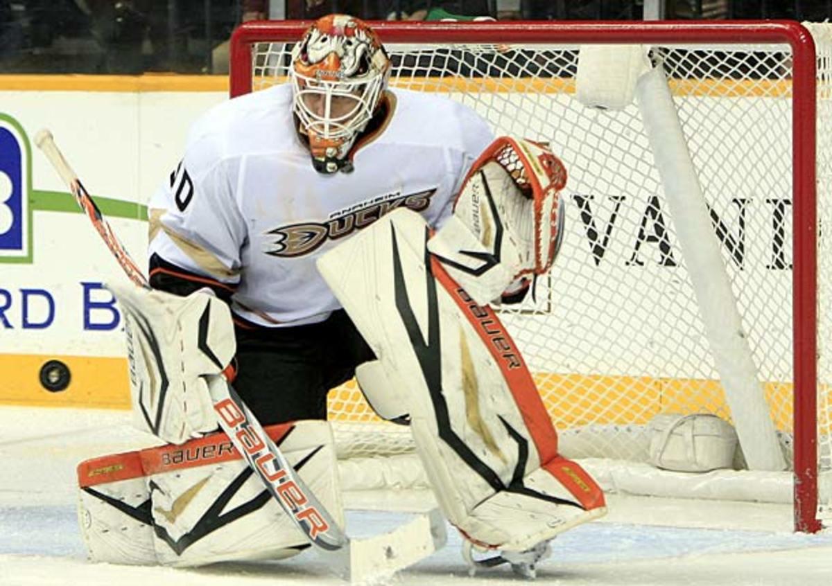 Viktor Fasth of Anaheim Ducks