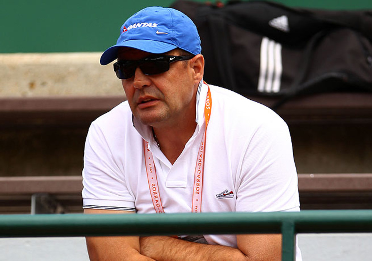 John Tomic was accused of a violent accusation with his son Bernard's hitting partner.