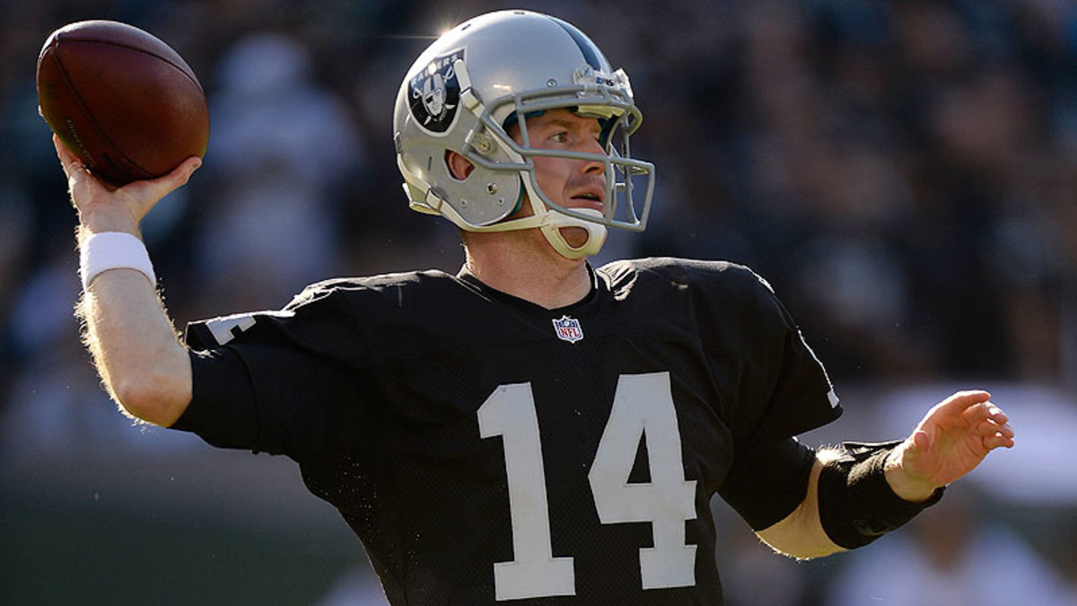 In two starts for the Raiders this season, Matt McGloin is 1-1 with four touchdowns and one interception. (Thearon W. Henderson/Getty Images)