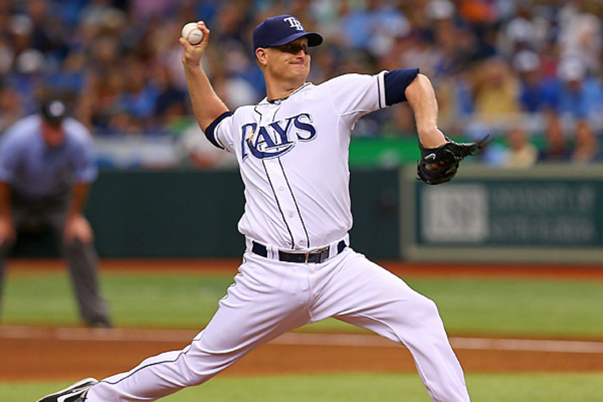 Alex Cobb struck out 12 Orioles over eight scoreless innings to keep the Rays in playoff position. (Mike Ehrmann/Getty Images)