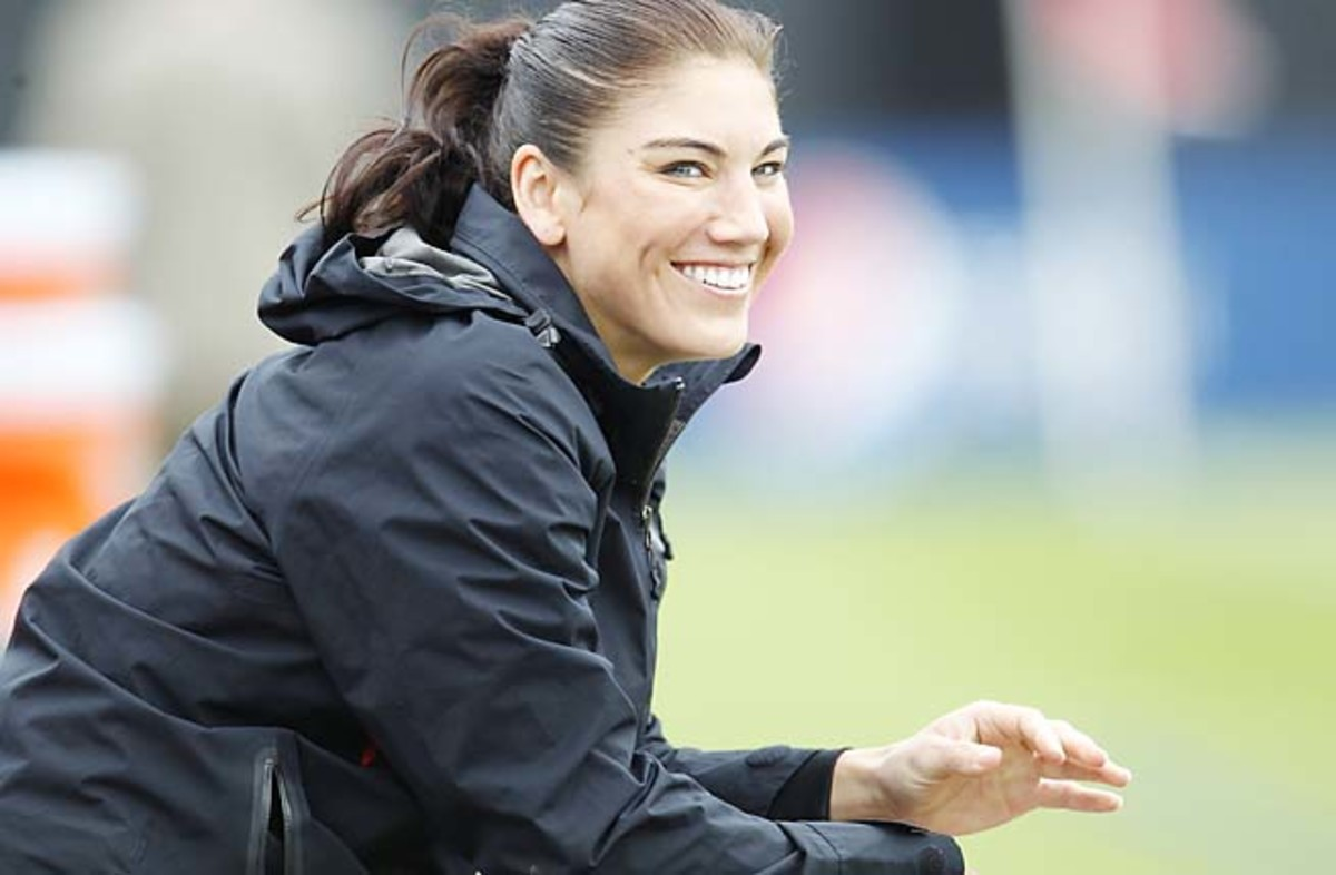 Hope Solo backstopped the U.S. to an Olympic gold in London last year.