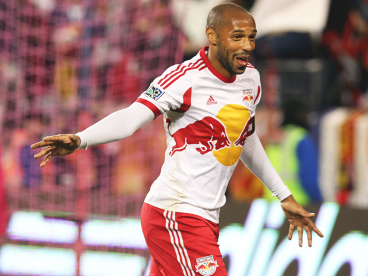 Thierry Henry scored a gorgeous goal that put the Red Bulls up for good on Sunday. (Brad Penner/USA Today Sports)