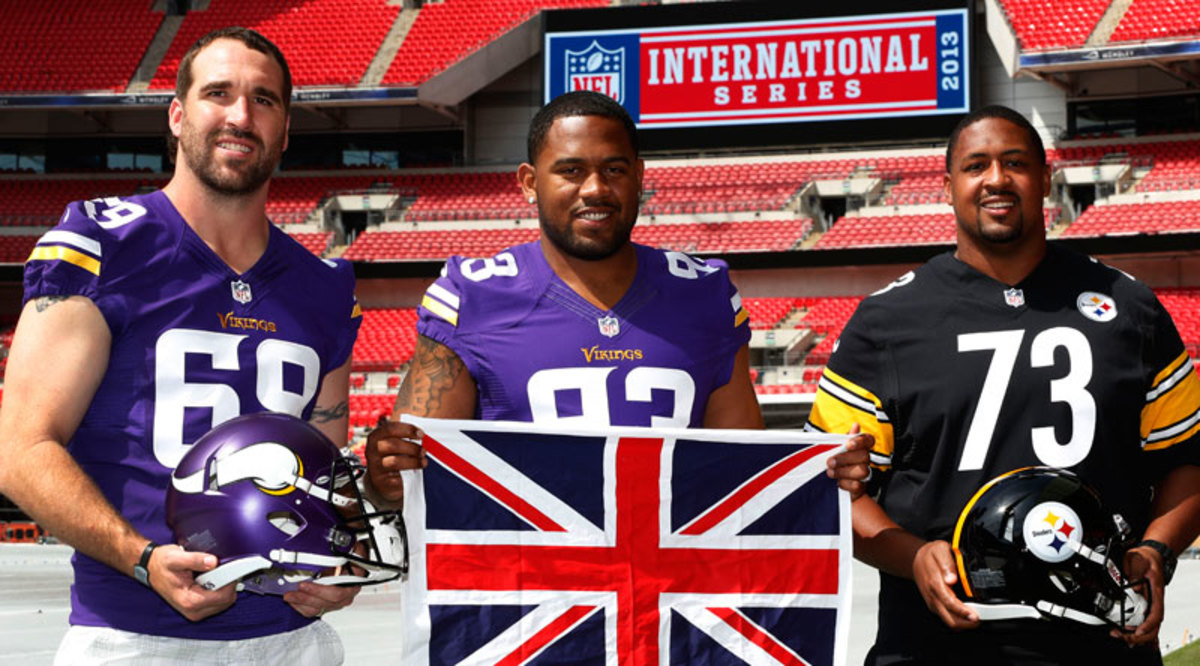 The NFL is doubling down on regular-season games in London, with the Vikings and Steelers first on the docket in Week 4. (Lefteris Pitarakis/AP)