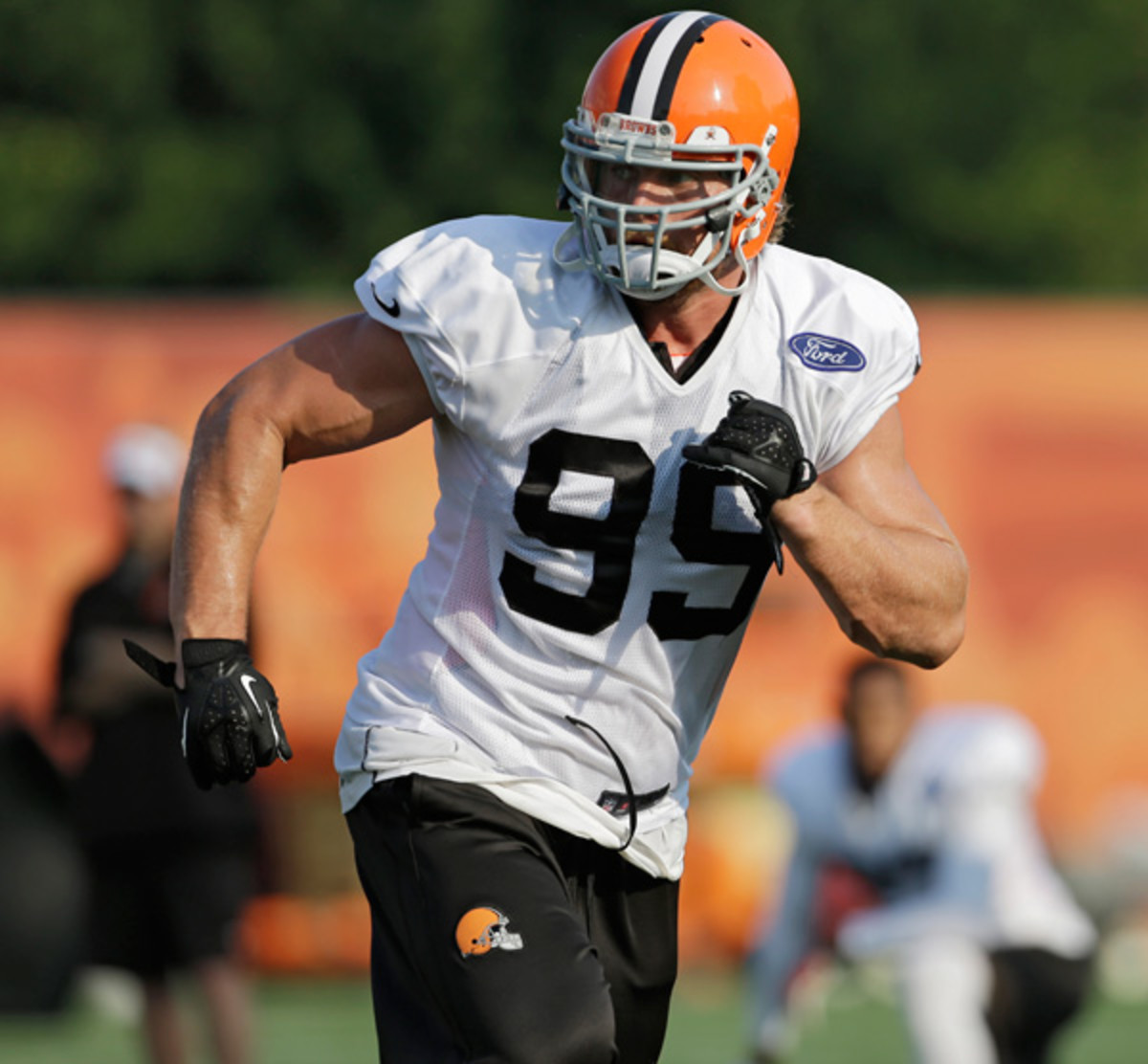 Offseason acquisition Paul Kruger should fit right in with new defensive coordinator Ray Horton's blitzing scheme.