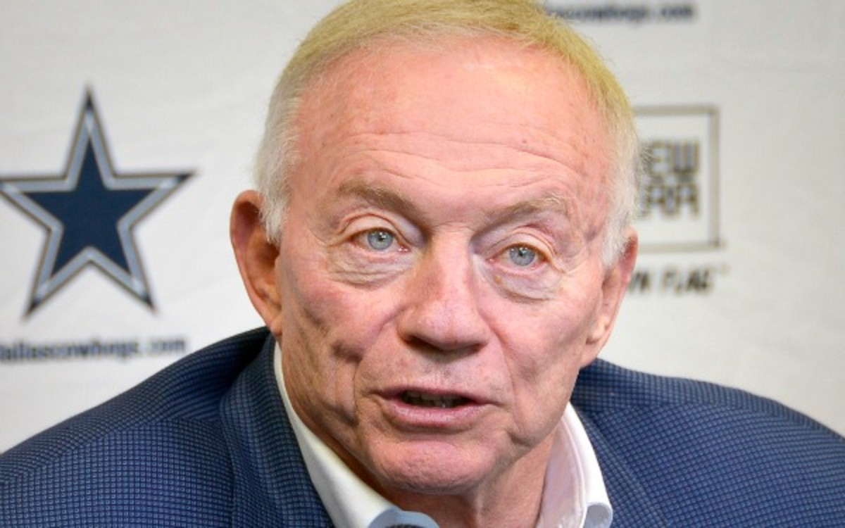 "The Cowboys are expected to be an astounding $31 million over next year's salary cap, leaving owner Jerry Jones with a potential ""train wreck."" (AP)"