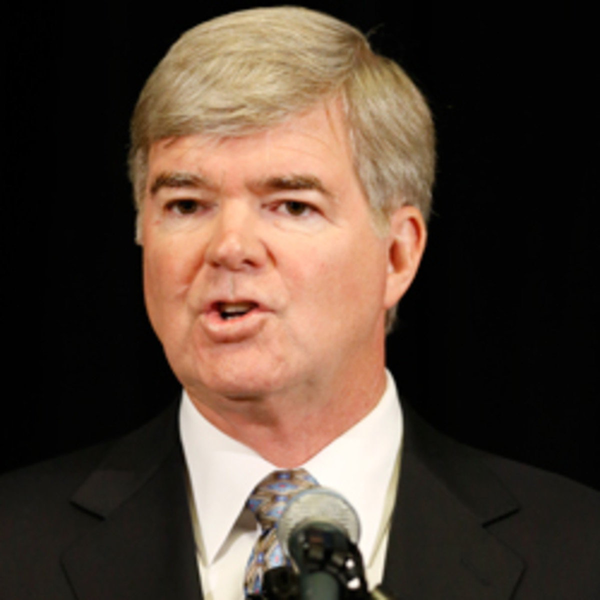 NCAA president Mark Emmert put the Miami investigation on hold after discovering major improper conduct. (Joe Robbins/Getty Images)