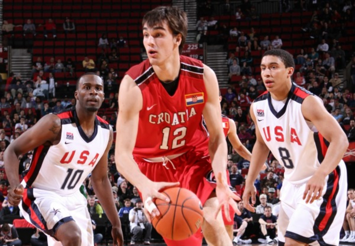Dario Saric is widely considered the best international prospect of the 2013 draft. (Sam Forencich/NBAE via Getty Images)