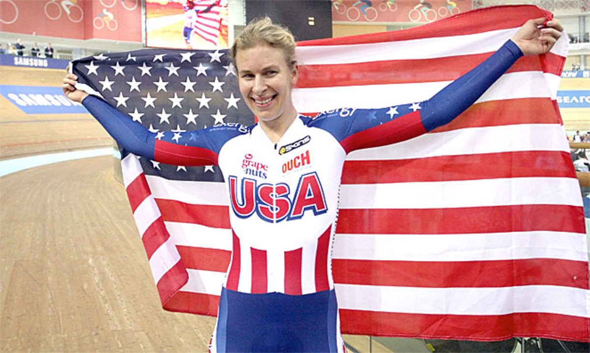 U.S.' Sarah Hammer earned her sixth career world championship after winning the omnium event.