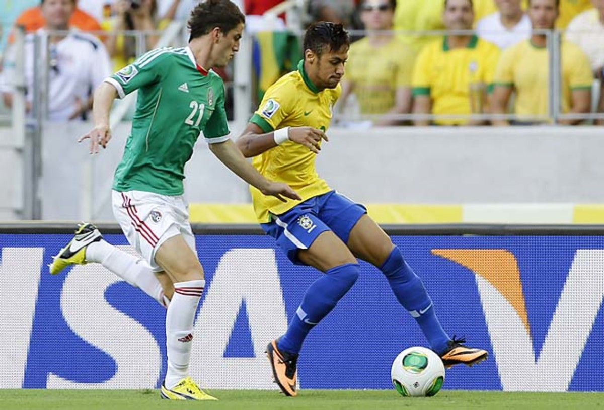 Neymar scored the opening goal in Brazil's match with Mexico on Wednesday.