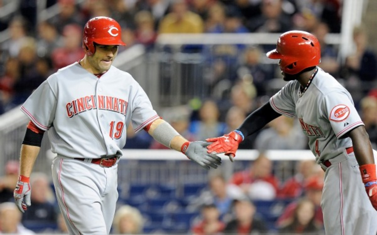 Joey Votto is OK with comments Brandon Phillips made about Votto's contract. (Greg Fiume/Getty Images)
