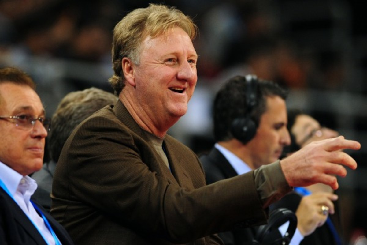 Larry Bird will return to the Pacers after a year's absence.(Frederic J. Brown/Getty Images)