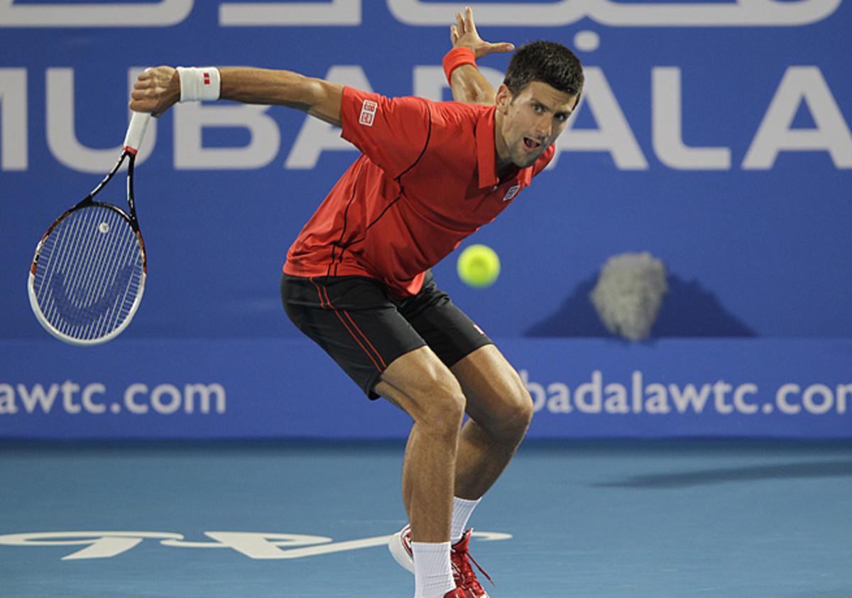 Novak Djokovic turned around a first-set deficit to easily handle David Ferrer in Abu Dhabi.