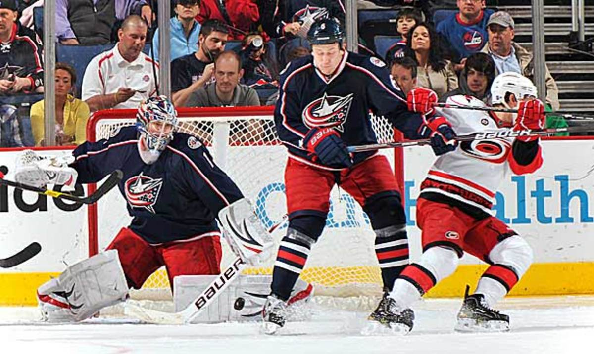 The Columbus Blue Jackets and Carolina Hurricanes could move to the Atlantic Division.