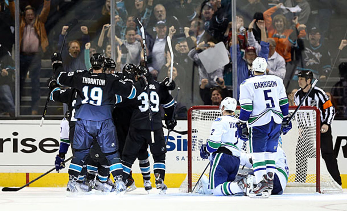 The Vancouver Canucks were the first team eliminated from the 2013 NHL playoffs.