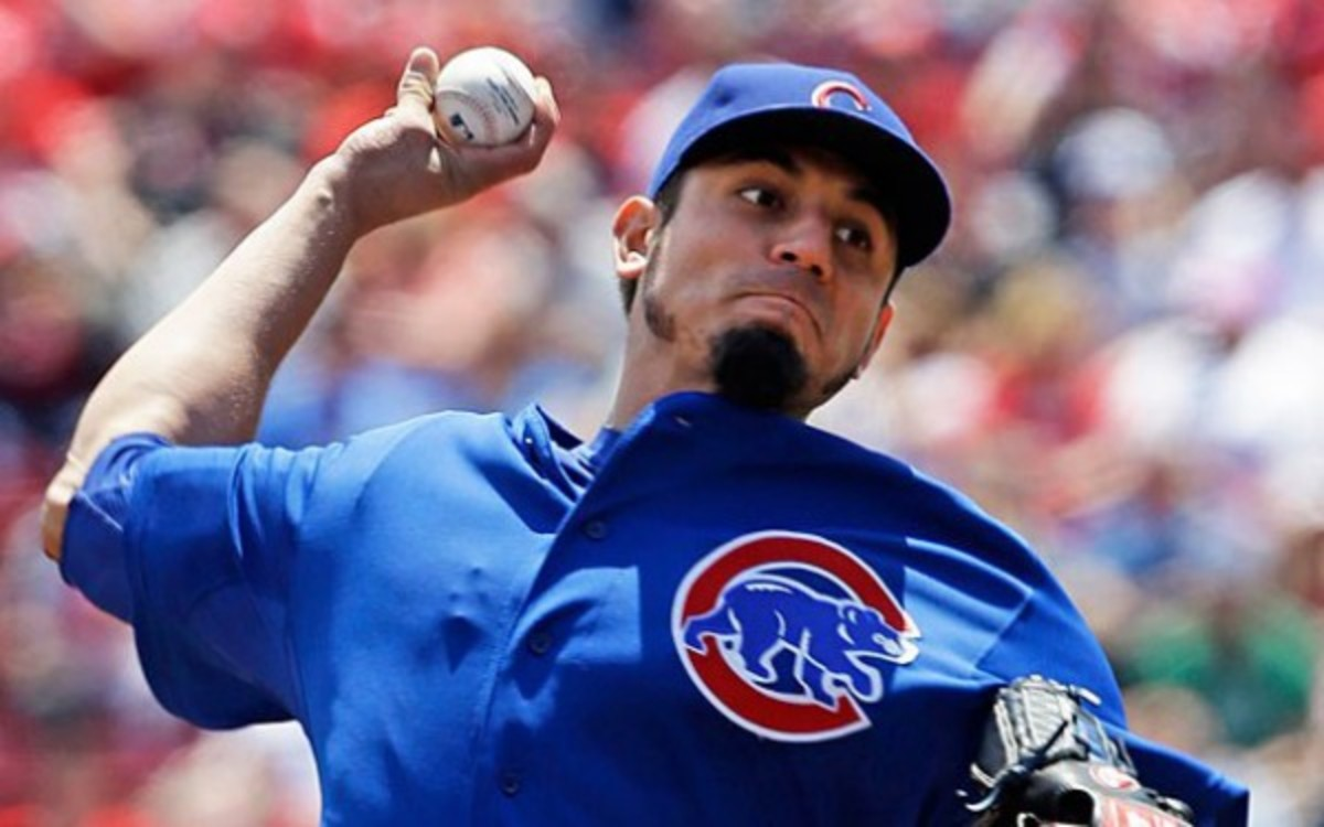 Reds manager Dusty Baker thinks Cubs pitcher Matt Garza should fight Reds ace Johnny Cueto. (Photo by Associated Press)