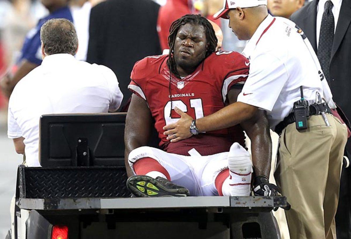 Jonathan Cooper's broken leg is reason enough to downgrade Larry Fitzgerald this season.